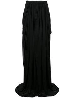 прозрачная присборенная юбка-макси Antonio Berardi