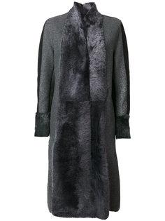 пальто со вставками  Lorena Antoniazzi
