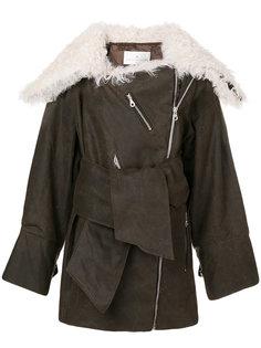 байкерская куртка с отделкой из овчины Joshua Millard