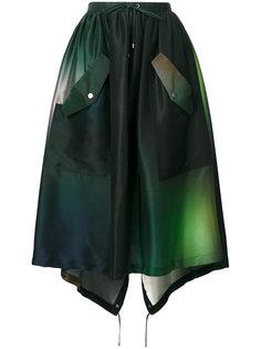 юбка в стиле милитари на завязках Kenzo