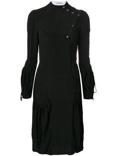 присборенное платье с боковой отделкой пуговицами  JW Anderson