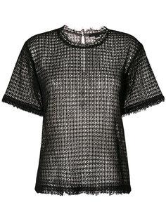 кружевная футболка с необработанными краями Alexander Wang