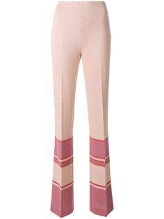 расклешенные брюки в полоску  Miu Miu