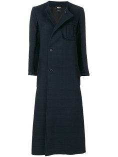 длинное пальто со смещенной застежкой  Yang Li