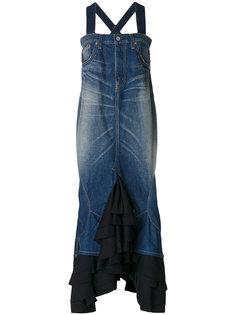 комбинированное платье с оборками Junya Watanabe Comme Des Garçons