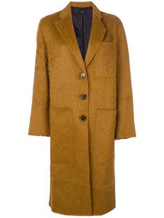 длинное однобортное пальто  Joseph
