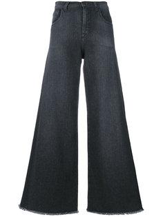 широкие джинсы с необработанными краями Andrea Yaaqov