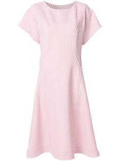 расклешенное платье с короткими рукавами Marni