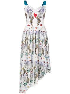 асимметричное платье с сюрреалистичным принтом Flux Mary Katrantzou