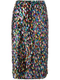 декорированная юбка миди Odeeh
