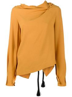 драпированная асимметричная блузка Roland Mouret