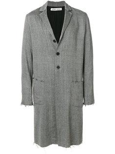однобортное пальто Olubiyi Thomas