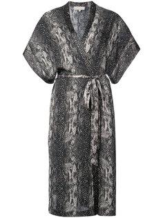 snakeskin print robe Fleur Du Mal
