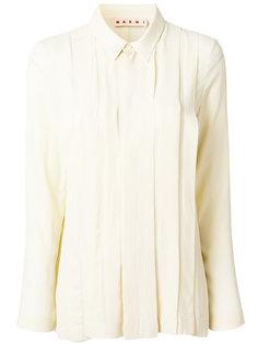 рубашка со складкой Marni