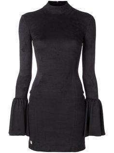 приталенное платье с расклешенными рукавами  Philipp Plein