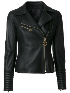 приталенная байкерская куртка  Philipp Plein