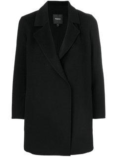 пальто с потайной застежкой Theory