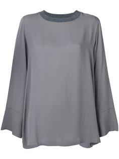 блузка с трикотажным воротником  Fabiana Filippi