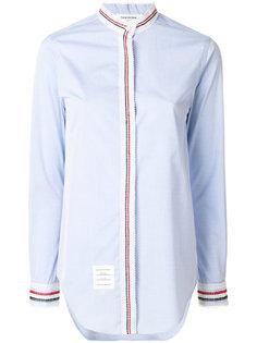однотонная рубашка с кружевной отделкой  Thom Browne