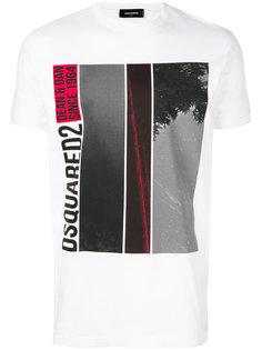 футболка с логотипом Dsquared2