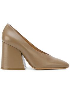 туфли-лодочки на расширяющемся книзу каблуке Maison Margiela