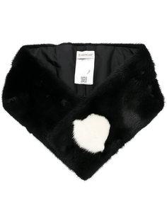 норковый шарф с логотипом Moncler