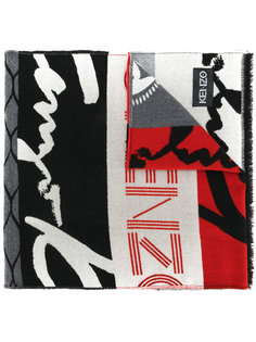 шарф с логотипом Kenzo