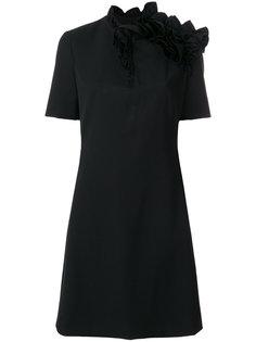 асимметричное платье с оборками Lanvin