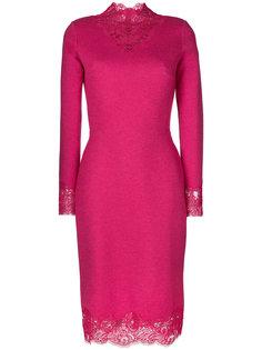 платье с кружевной цветочной отделкой  Ermanno Scervino
