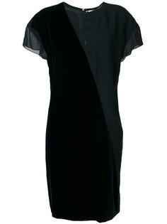 двухцветное асимметричное платье Lanvin