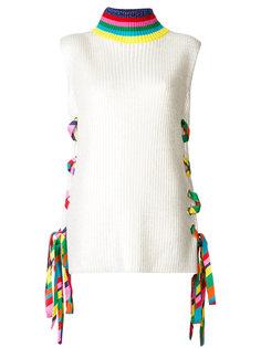 свитер с ленточной шнуровкой Mira Mikati