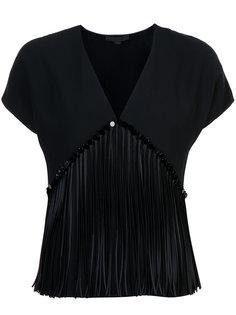 блузка с V-образным вырезом и бахромой Alexander Wang