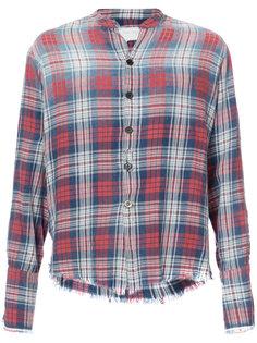 клетчатая рубашка с необработанными краями Greg Lauren
