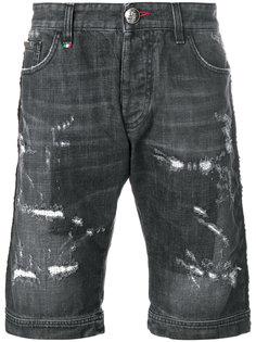 шорты с рваными деталями Philipp Plein