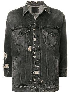 состаренная джинсовая куртка  R13