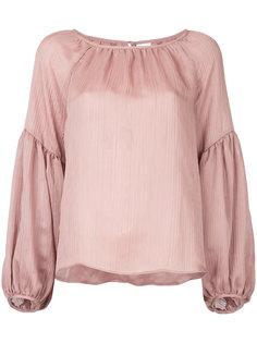 полупрозрачная присборенная блузка  Cityshop