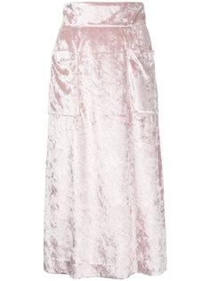 бархатная юбка с карманами  Cityshop