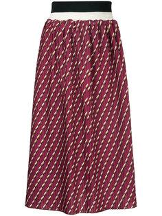 плиссированная юбка с принтом  Cityshop