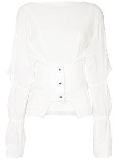 полупрозрачная блузка с корсетом  Taro Horiuchi