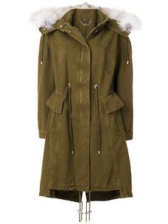 куртка с мехом лисы на капюшоне  Alexander McQueen