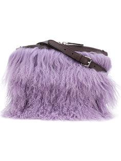сумка на плечо с отделкой овчиной Jil Sander