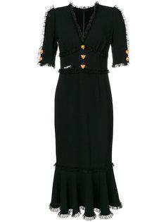 платье с маленькими леопардами Dolce & Gabbana