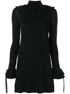 платье с высоким горлышком с заворотом Ermanno Scervino