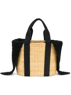 плетеная сумка-тоут с вязаными деталями Muun