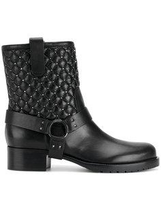 стеганые байкерские ботинки Valentino Garavani Valentino