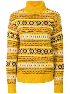 свитер-водолазка с узором фэр-айл  Joseph