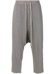 укороченные брюки на шнурке Rick Owens DRKSHDW