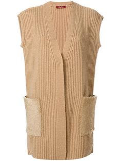 жилетка с карманами из лисьего меха Max Mara Studio