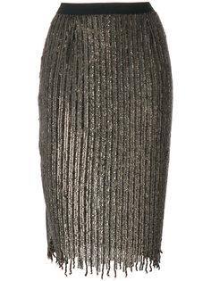 юбка-карандаш с отделкой пайетками  Aviù