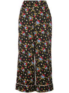 расклешенные брюки с цветочным принтом Vivetta